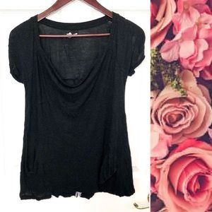 {Urban Outfitters} Black Cowl Neck Pocket Tee